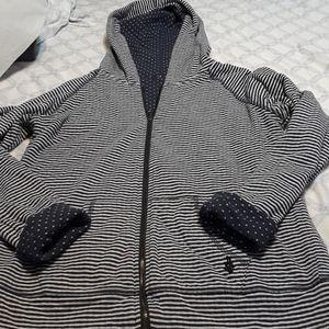 Modcloth reversible zip up hoodie size medium